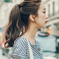粉红时代 假发魔术贴式捆绑马尾辫 中长发 朱莉娅中(Most原丝)