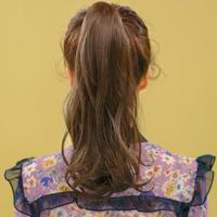 粉红时代 绑带马尾) 花园舞曲 (Most原丝) 假发 魔术贴式捆绑 马尾辫  花圆舞曲 假马尾