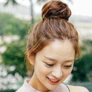 粉红时代 假发丸子头-花苞头 小号 - 直发(Lex原丝)