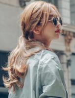 粉红时代逼真捆绑式梨花卷马尾假发女式魔术贴中长款马尾辫子新品