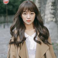粉红时代 魔术酷假发 韩国女士假发 整定长卷发头套 仿真发(Most原纱)