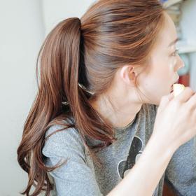 粉红时代 韩国正品 长微卷抓夹假发女长卷发夹子马尾爪夹高温丝发辫爪夹马尾辫(Lex原丝)