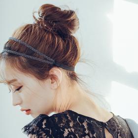 粉红时代 假发丸子头 发圈式发苞 花苞头 - 大号(Lex原丝)