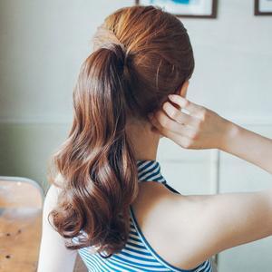 粉红时代 假发魔术贴式捆绑马尾辫  玛丽昂 玫瑰(supreme原丝)