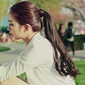 粉红时代 假发魔术贴式捆绑马尾辫 长卷发 朱莉娅(supreme原丝)